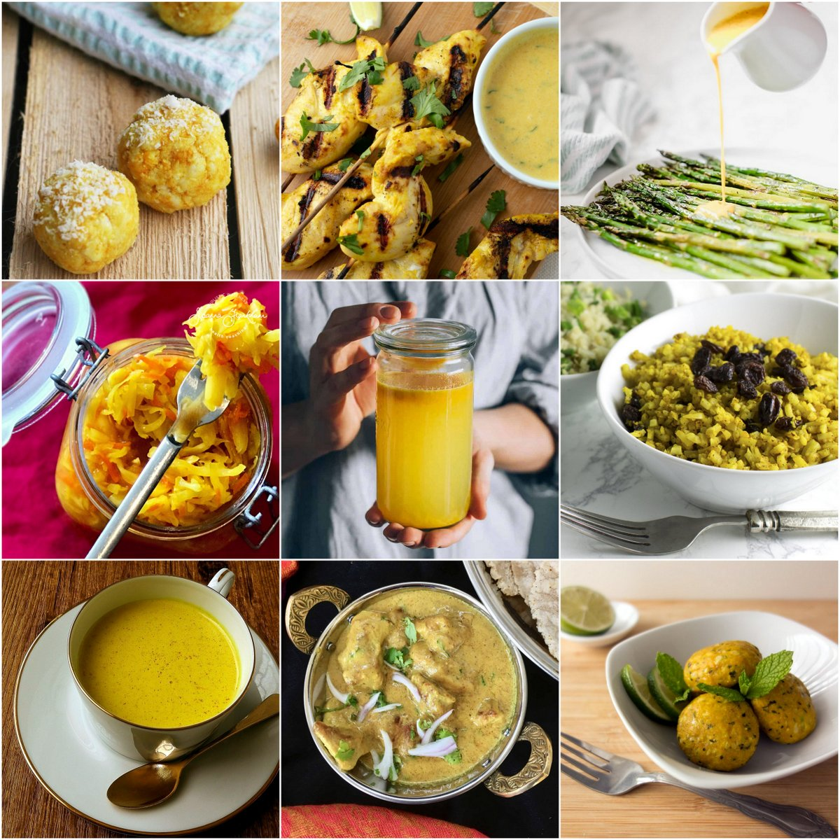 photo collage of 9 recipes featured in the roundup