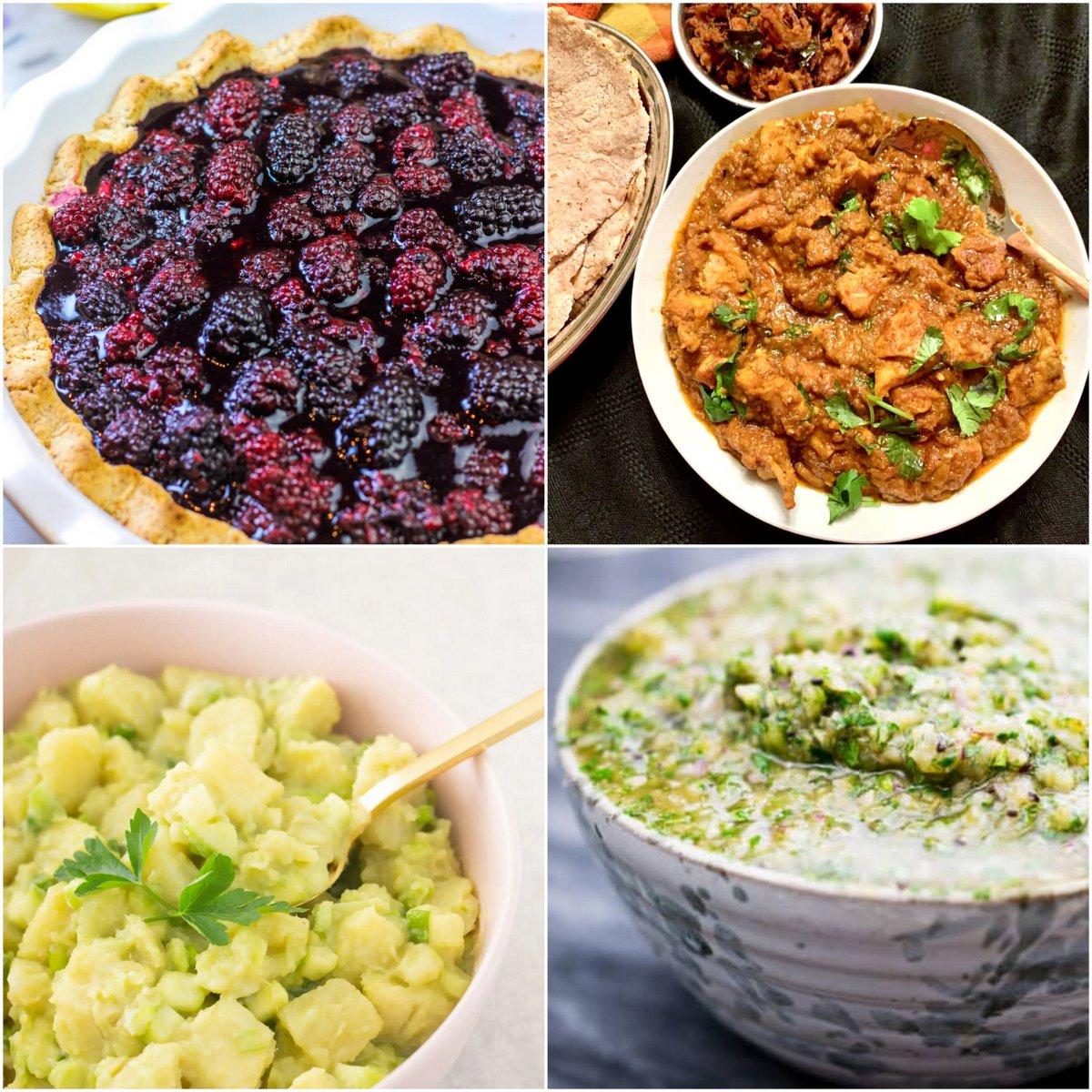 "Paleo AIP Recipe Roundtable #371   Phoenix Helix - *Featured Recipes: Blackberry Lemon Pie, Chicken Korma, ""Potato"" Salad, and Salsa Verde."