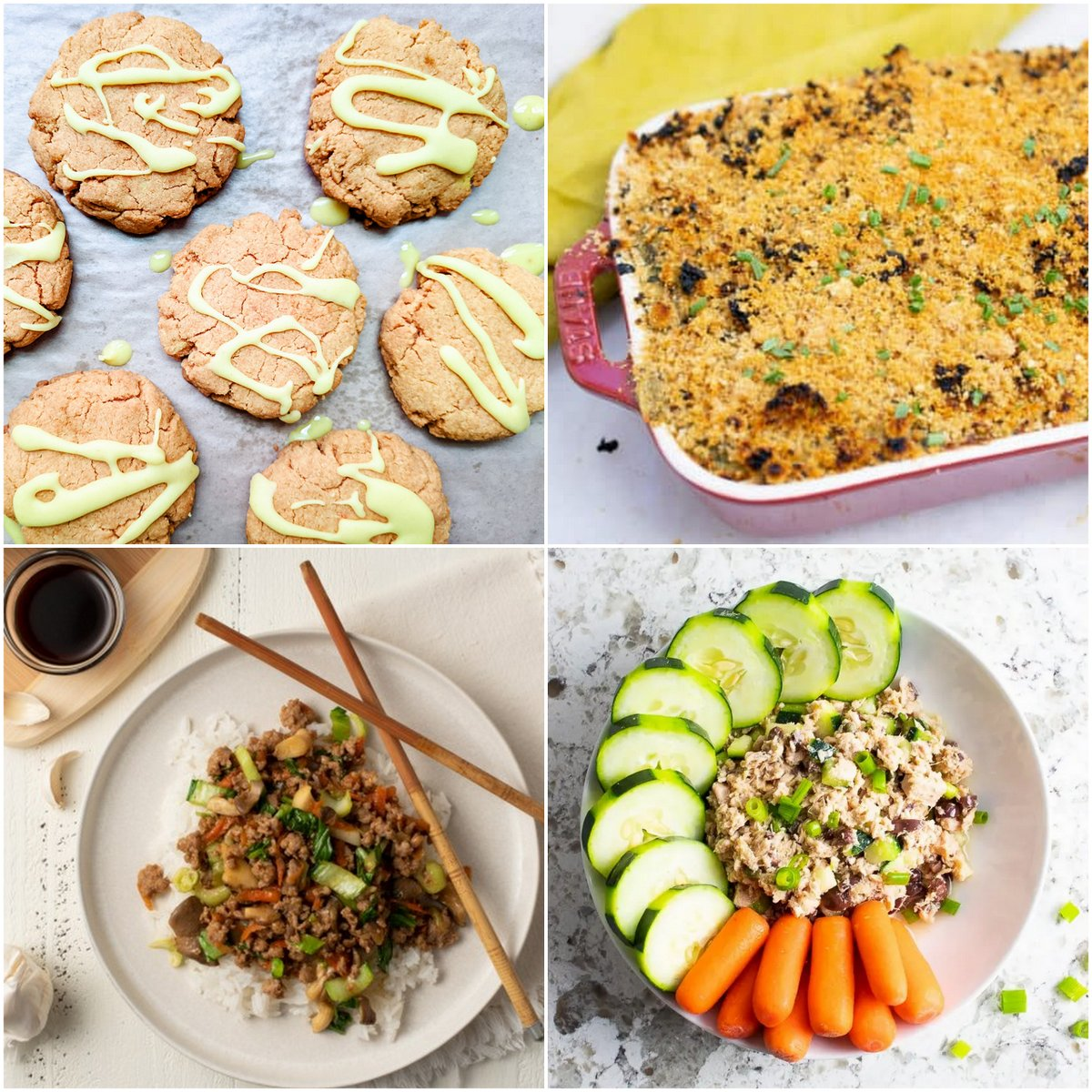 Paleo AIP Recipe Roundtable #372   Phoenix Helix - *Featured Recipes: Golden Turmeric Coconut Cookies, Creamy Chicken & Spinach Casserole, Easy Pork Stir-Fry, and Quick No-Mayo Greek Tuna Salad.