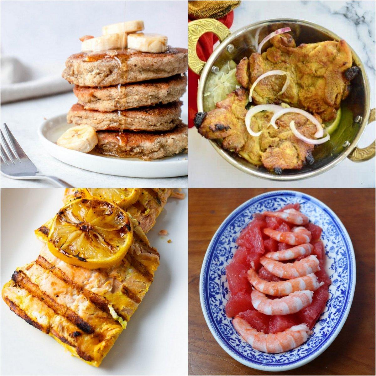 Paleo AIP Recipe Roundtable #384 | Phoenix Helix - *Featured Recipes: Banana Pancakes, Tandoori Chicken, 4-Ingredient Shrimp Salad, and Lemon Turmeric Grilled Salmon