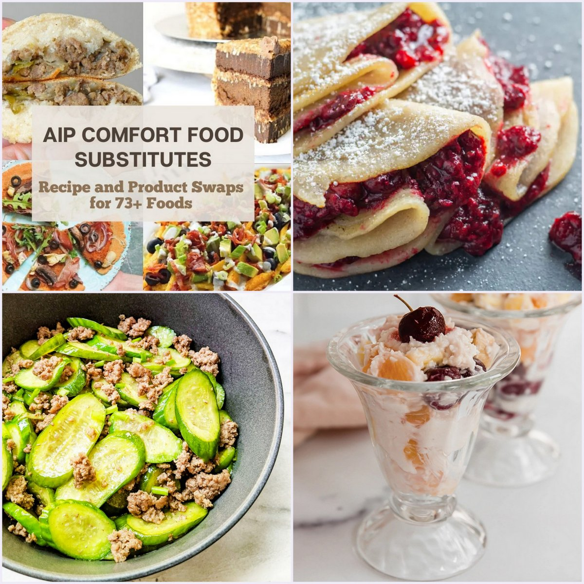 Paleo AIP Recipe Roundtable #385   Phoenix Helix - *Featured Recipes: AIP Comfort Food Substitutes, Crepes with Berry Compote, Simple Cucumber and Beef Stir Fry, and Retro Ambrosia Salad.